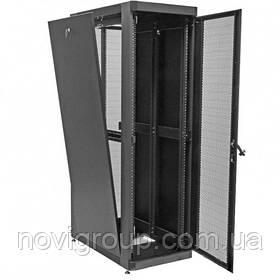 """Шафа 19"""" 33U, 610 х 865 мм (Ш*Г), посилена, перфоровані двері (66%), чорна"""