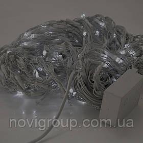 Гірлянда 480LED (Водоспад) White HOT, 8 режимів, 3 * 2метра, біла ізоляція, BOX
