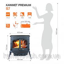 Чугунная печь KAWMET Premium S7 (11,3 kW), фото 2