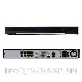 8-канальний 4K мережевий відеореєстратор Hikvision PoE  DS-7608NI-K2/8P