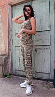Жіночий спортивний костюм в стилі мілітарі на літо, фото 1