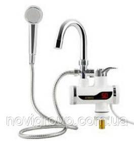 Проточний Водонагреватeль SHOWER + Душ, потужність 3 кВт, білий, Box