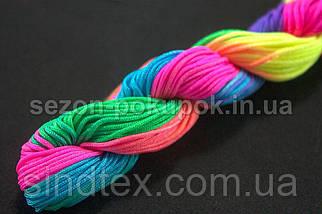 (20метров) Шнур нейлоновый,капроновый (шамбала) 1мм Цвет- Градиент (сп7нг-1653), фото 2