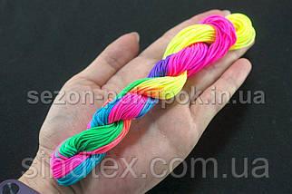 (20метров) Шнур нейлоновый,капроновый (шамбала) 1мм Цвет- Градиент (сп7нг-1653), фото 3