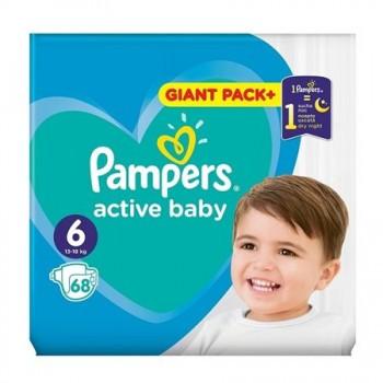 Підгузки Pampers Active Baby 6 (13-18кг), 68шт