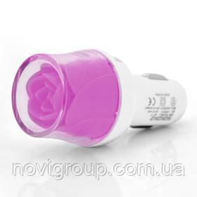 АЗУ NOKOKO Flower, 12V-USB, 5-5.5 V, 2*USB, 10W, 2,1 А, Violet, Пакет Q50