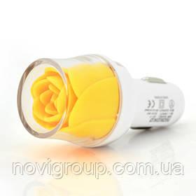 АЗУ NOKOKO Flower, 12V-USB, 5-5.5 V, 2*USB, 10W, 2,1 А, Yellow, Пакет Q50