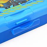 Контейнер для еды Minions 450 мл с ложкой и вилкой YES код: 706845, фото 2