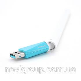 Бездротовий мережевий адаптер з антеною Wi-Fi-USB MERCURY MW150UH, 802.11bgn, 150MB, 2.4 GHz, WIN7 / XP /