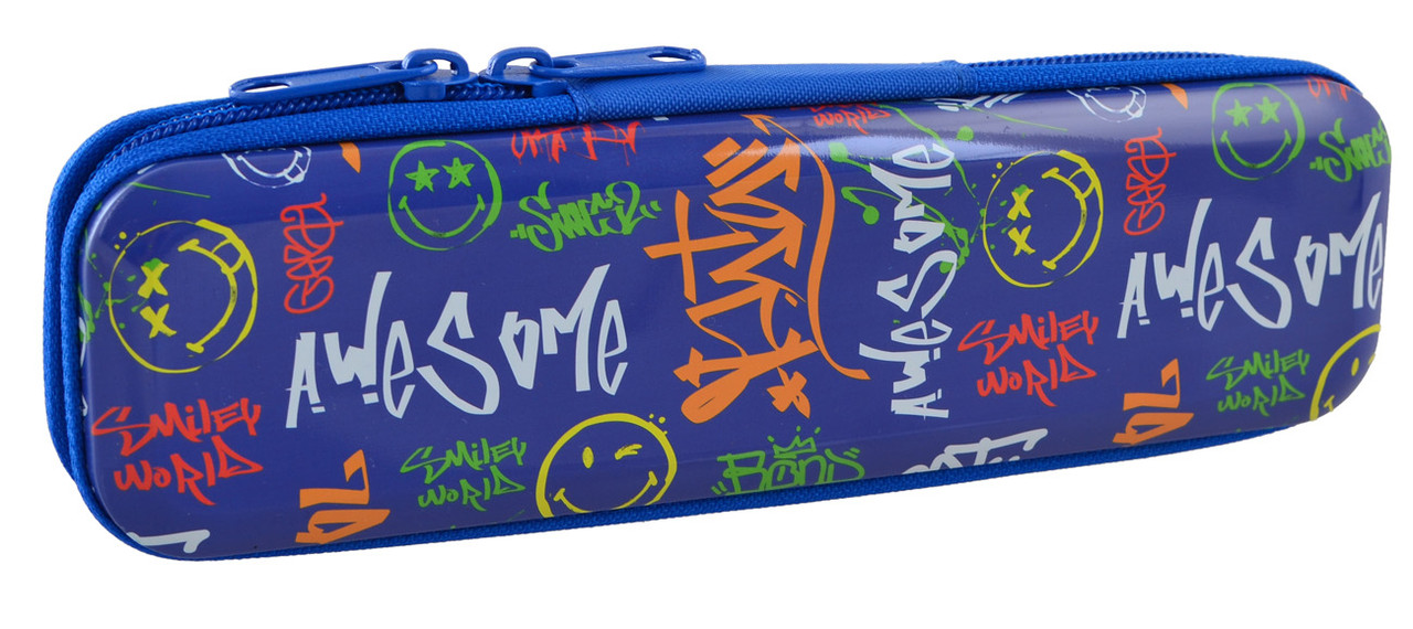 Пенал металлический YES MP-01 Smiley world-2 код: 532280