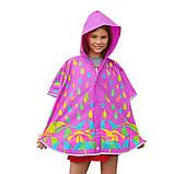 Дождевик-пончо YES со светоотражающим кантом «Яркие зонтики» код: 706944, фото 2