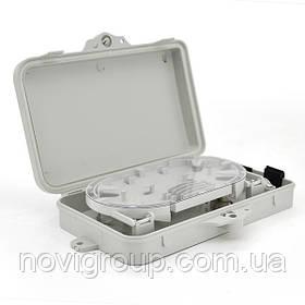 PON - box 4-канальний, термоусадка, ключі, стяжки, кріплення на стіну, Q50