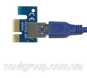 Адаптер - перехідник з PCI-e x1 на USB 3.0, OEM