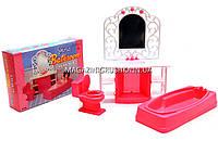 Детская игрушечная мебель Глория Gloria для кукол Барби Ванная комната 94013. Обустройте кукольный домик