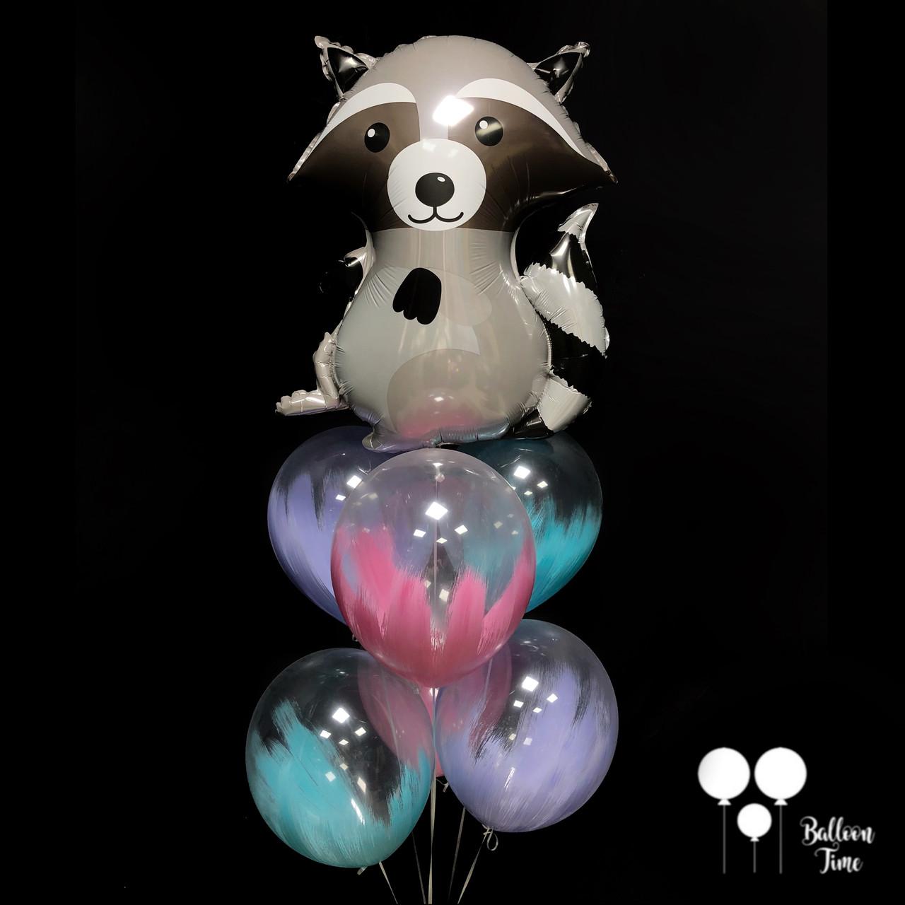 Енот + шары с краской