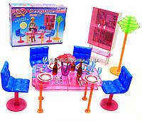 Детская игрушечная мебель Глория Gloria для кукол Барби Столовая 2912. Обустройте кукольный домик