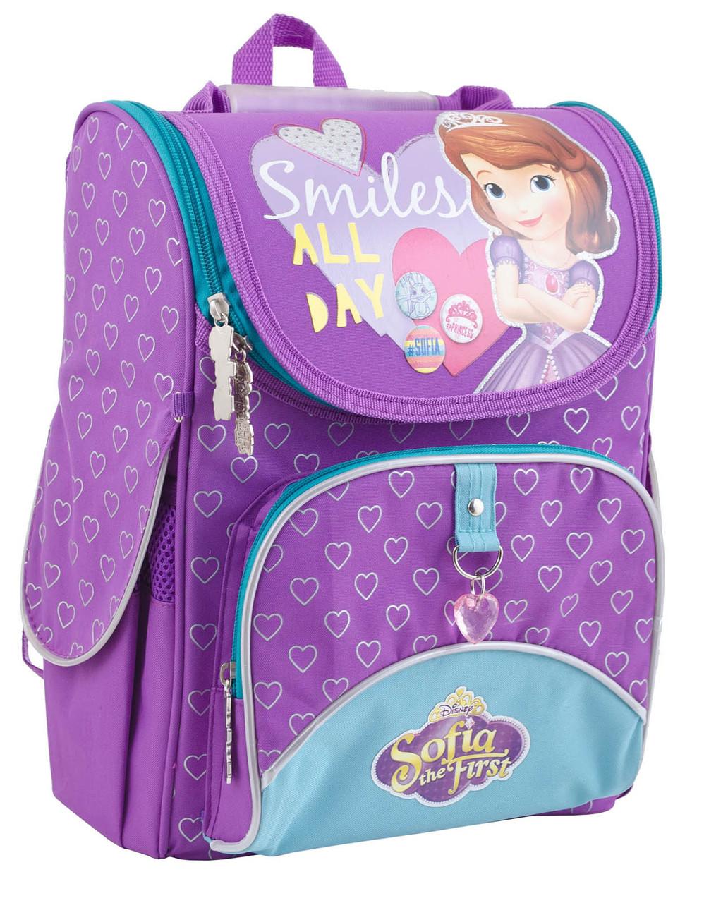 Рюкзак школьный ортопедический каркасный 1 Вересня H-11 Sofia purple, 34*26*14 код: 553269
