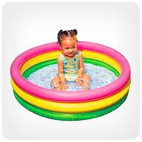 Детский бассейн для улицы и пляжа «Детский» (круглый, 3 кольца)