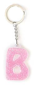 Брелок YES буква В розовая код: 554251