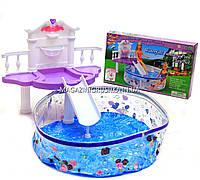 Детская игрушечная мебель Глория Gloria для кукол Барби Бассейн 2678. Обустройте кукольный домик