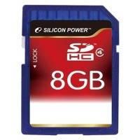 Карта памяти Silicon power SDHC 8Gb class 4 USB