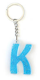 Брелок YES буква К голубая код: 554265