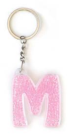 Брелок YES буква М розовая код: 554271