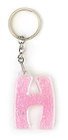 Брелок YES буква Н розовая код: 554286