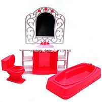 Детская игрушечная мебель Глория Gloria для кукол Барби Ванная комната 94013. Обустройте кукольный домик, фото 2