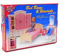 Детская игрушечная мебель Глория Gloria для кукол Барби Гардероб и спальня 24014. Обустройте кукольный домик, фото 2