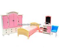 Детская игрушечная мебель Глория Gloria для кукол Барби Гардероб и спальня 24014. Обустройте кукольный домик, фото 3