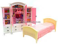 Детская игрушечная мебель Глория Gloria для кукол Барби Гардероб и спальня 24014. Обустройте кукольный домик, фото 4