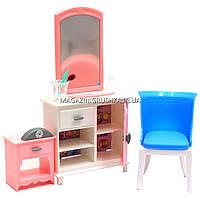Детская игрушечная мебель Глория Gloria для кукол Барби Гардероб и спальня 24014. Обустройте кукольный домик, фото 5