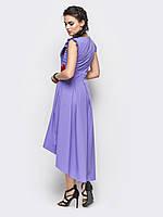 Нарядное асимметричное платье с вышивкой 52 размера