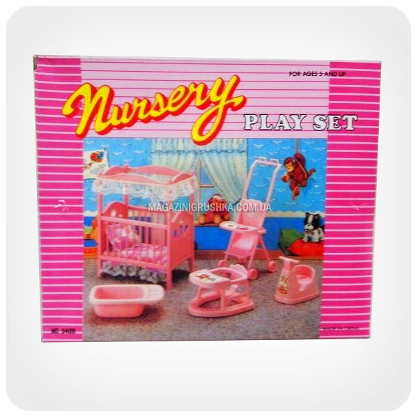 Детская игрушечная мебель Глория Gloria для кукол Барби Детская комната 9409. Обустройте кукольный домик