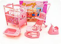 Детская игрушечная мебель Глория Gloria для кукол Барби Детская комната 9409. Обустройте кукольный домик, фото 4