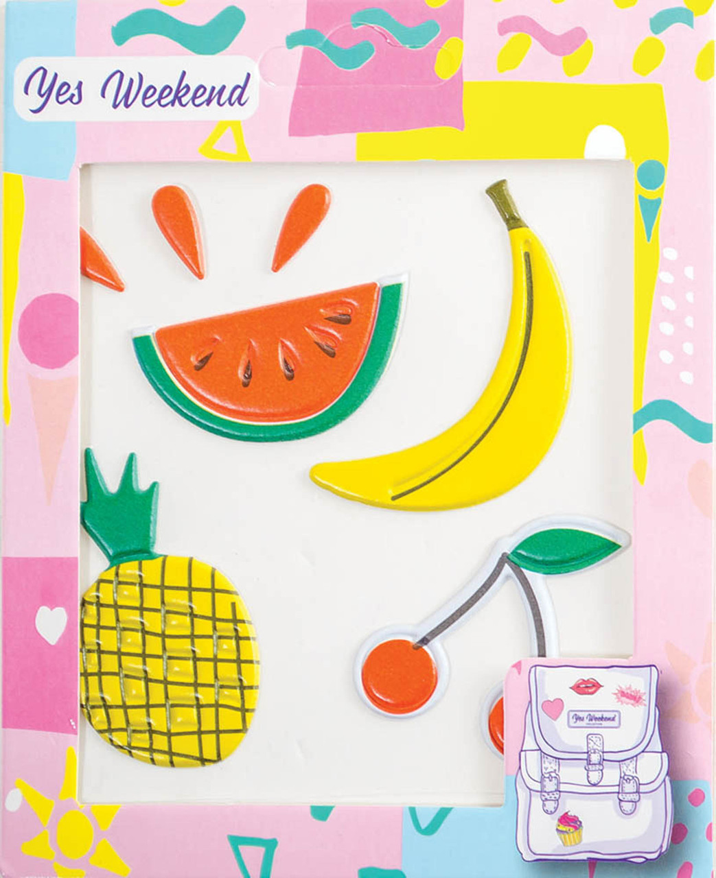 Набор наклеек YES Patch stiker банан вишня код: 554316