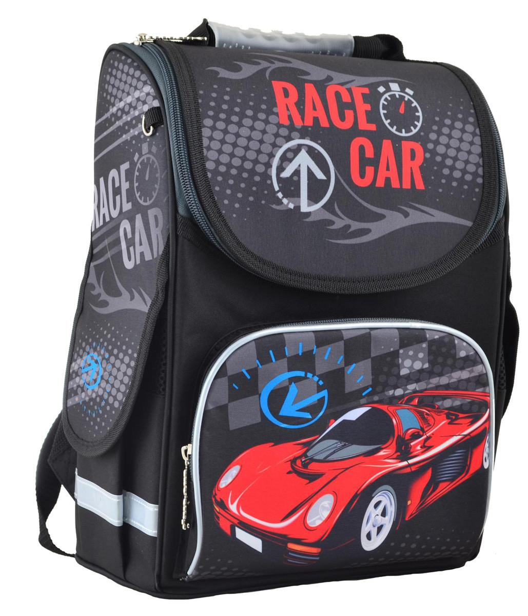 Рюкзак школьный ортопедический каркасный Smart PG-11 Race car 34*26*14 код: 554513