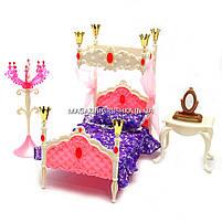 Дитяча іграшкова меблі Глорія Gloria для ляльок Барбі Спальня 1214. Облаштуйте ляльковий будиночок, фото 2