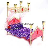 Дитяча іграшкова меблі Глорія Gloria для ляльок Барбі Спальня 1214. Облаштуйте ляльковий будиночок, фото 3