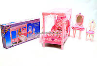 Детская игрушечная мебель Глория Gloria для кукол Барби Спальня 2614. Обустройте кукольный домик