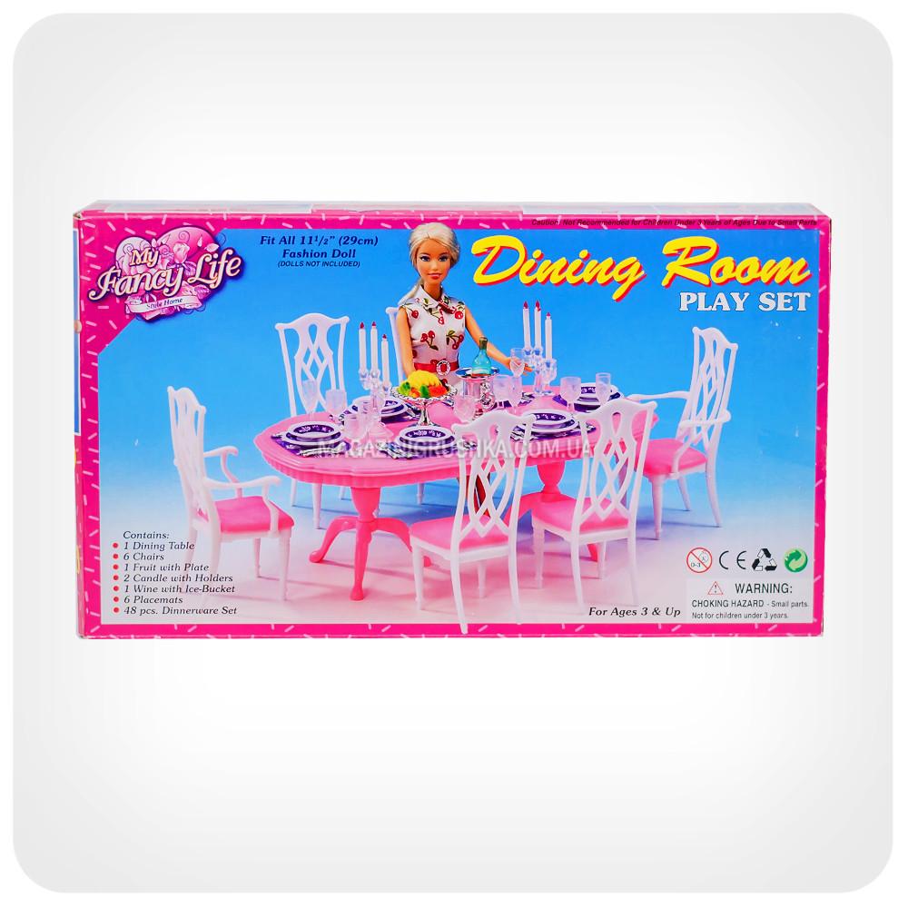 Детская игрушечная мебель Глория Gloria для кукол Барби Столовая 9712. Обустройте кукольный домик