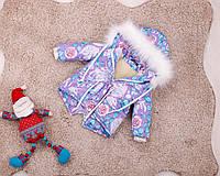 Детская парка Единороги зима для девочек, фото 1
