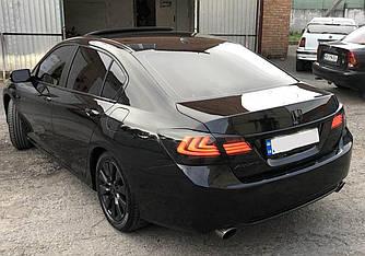 Фонари Honda Accord 9 (13-16) оптика Led тюнинг (черные)