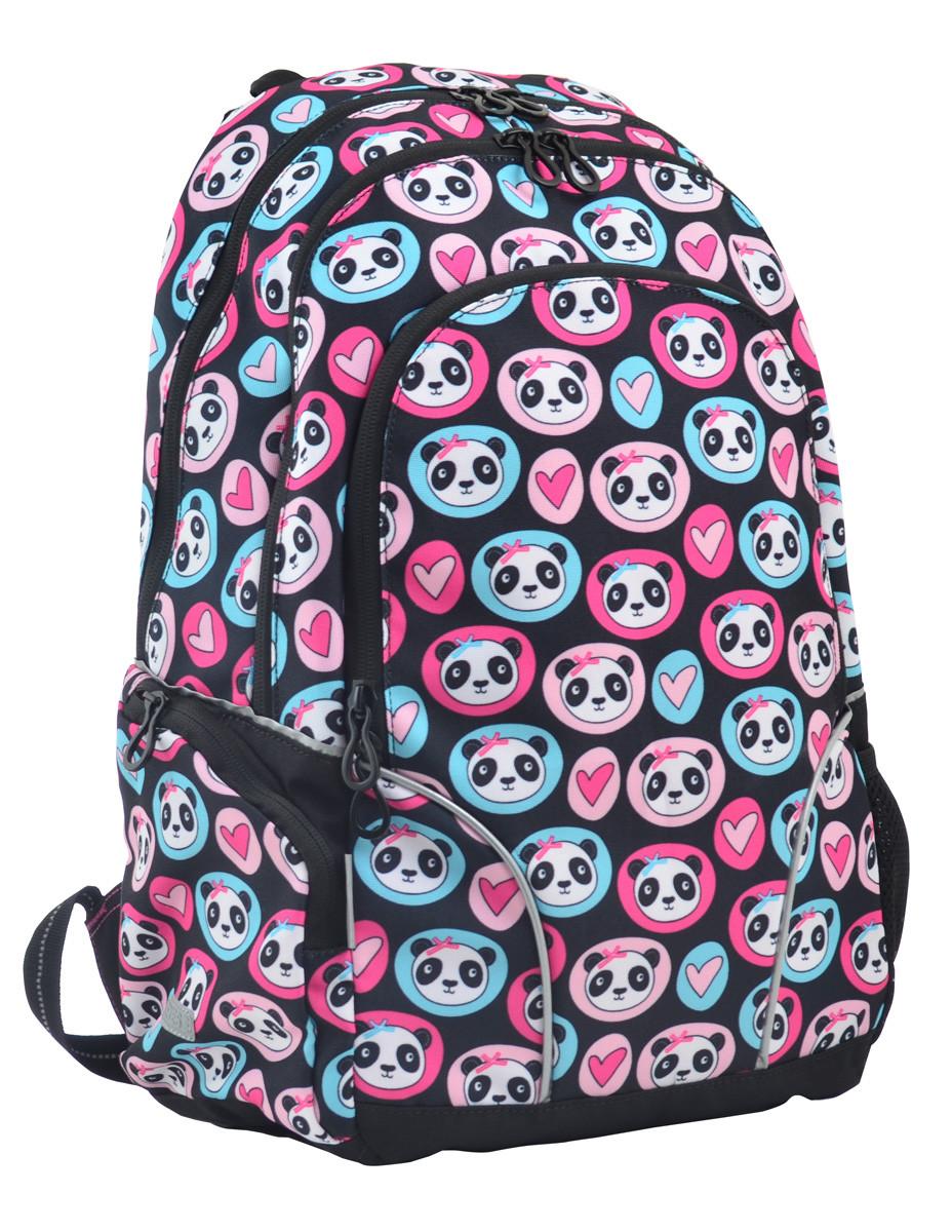 Рюкзак школьный для подростка YES  Т-26 Lavely pandas, 45*30*14 код: 554776