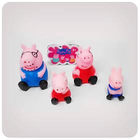 Набор фигурок «Свинка Пеппа» (Peppa Pig) (резиновые, в сетке)