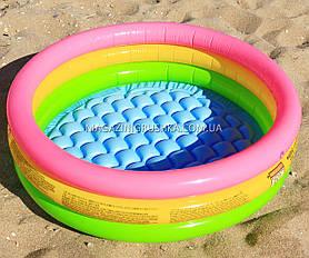 Детский бассейн для улицы и пляжа «Радуга» (круглый, 3 кольца)