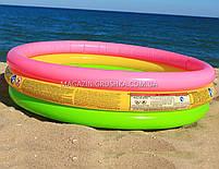 Детский бассейн для улицы и пляжа «Радуга» (круглый, 3 кольца), фото 3