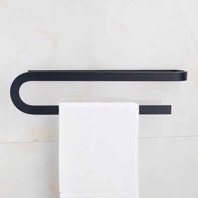 Вешалка для полотенец черная в ванную комнату. Модель 3-100
