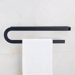 Вішалка для рушників чорна у ванну кімнату. Модель 3-100